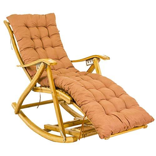 WYJW schommelstoelen voor volwassenen Ligbedden met ligstoelen en tuinkussens Bamboe ligstoel voor tuinstoelen en camping op het strand Ligstoel voor buiten max. 250 kg.