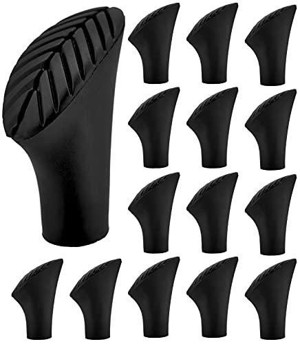 Tacos de goma para bastones de marcha nórdica, 14 unidades, 7 pares, 10 mm, asfalto