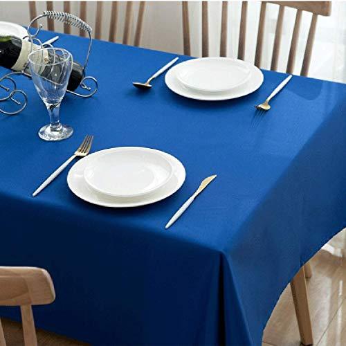 GCXZB Mantel de Fibra química Color Color Sólido Cocina Mantel Rectángulo Rectangular Mantel antiincrustante antiincrustante Paño a Prueba de Polvo Mantel (Color: Azul, Tamaño: 140 * 200 cm)