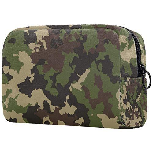Bolsa de cosméticos para mujer, camuflaje verde militar, bolsas de maquillaje, accesorios organizador de regalos