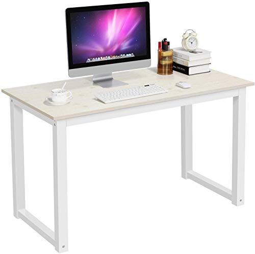 FMOGE Escritorio De Esquina Compacto para Computadora, Computadora Portátil, Escritorio, Escritorio, Escritorio, Mesa De Escritura, Estación De Trabajo para Oficina En Casa (Color: Beige)
