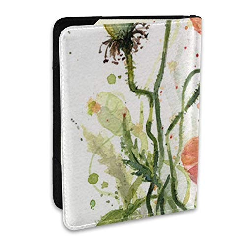 1-Red-Poppies-Watercolor Passport Covers,Passport Wallet and Passport Holder Travel Accessories