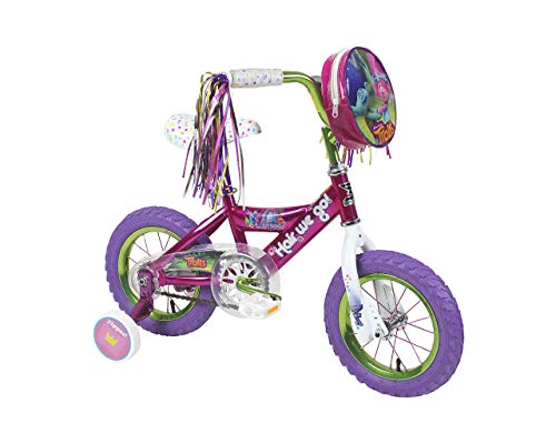 "Trolls 12"" Kids' Bike with Training Wheels - Pink/Purple"