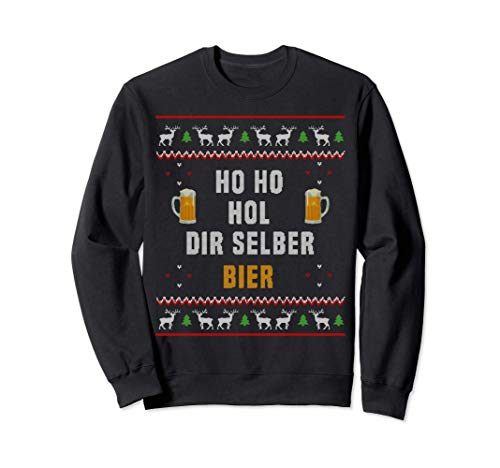 Ho Ho Hol mir mal ein Bier Konter I Ugly Christmas Sweatshirt