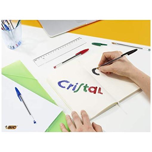 BIC Cristal Bolígrafos, Original, Óptimo para material escolar,Azul, Punta Media (1,0mm), Material Oficina y Papelaria… 5