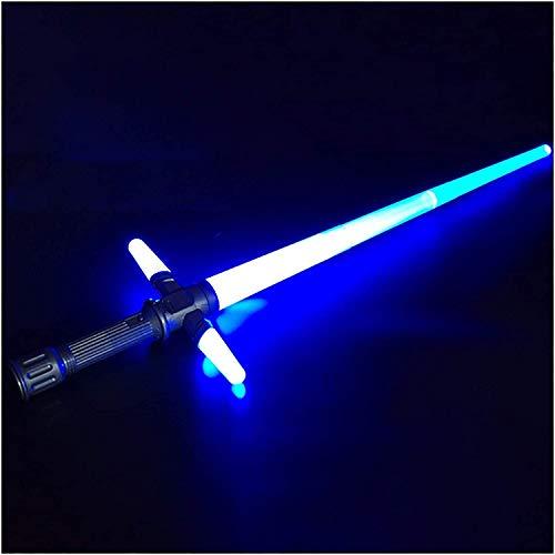 Y&Z Espada Laser Star Wars, Tipo telescópico Sable de luz electrónica, Fuerza Despierta con Efectos de Sonido Toy Toy Light Sable, 39~72cm Cumpleaños de cumpleaños Halloween, Blue