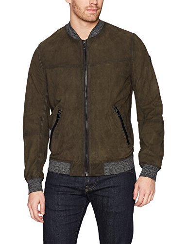BOSS Orange Men's Jight Extra Lightweight Bomber, Dark Green, 38R