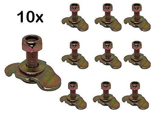 10x Single Schraubfitting für Airlineschiene M8x25 500daN Endbeschlag Endfitting