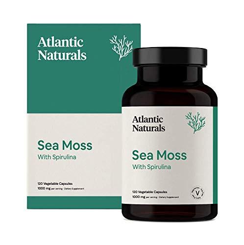 Organic Sea Moss with Spirulina Capsules | Vegan 1000mg