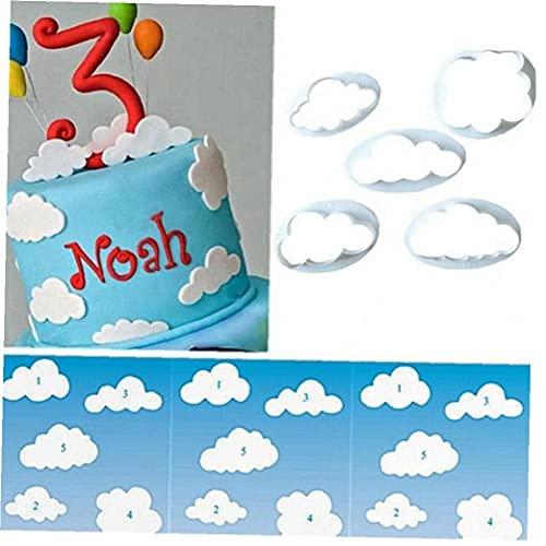 Cloud Fondente Cutter Forme Forme Nuvola Riutilizzabile Turno di Zucchero Decorazione Biscotti Taglio Modello 5 Pz