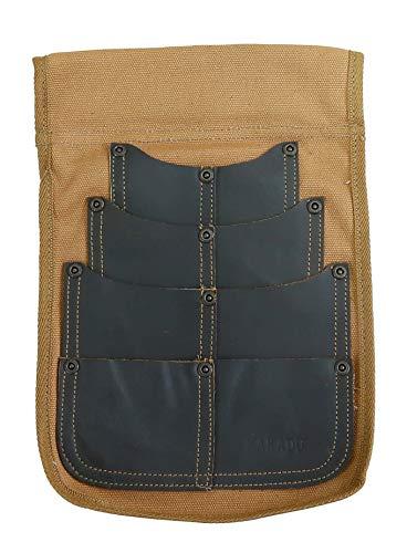 Kakadu Traders Australia Borsa per cintura, borsa per chiodi | Utility fondina in tela e pelle marrone Taglia unica