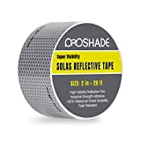 Reflective Tape, PROSHADE Silver Marine Safety Warning Tape Waterproof, Solas Grade Pressure Sensitive Adhesive Film for Automobile, Fabric, Bike, Truck, RV. (2'' × 20')