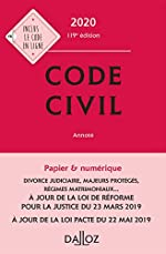 Code civil 2020, annoté - 119e éd. de Pascale Guiomard