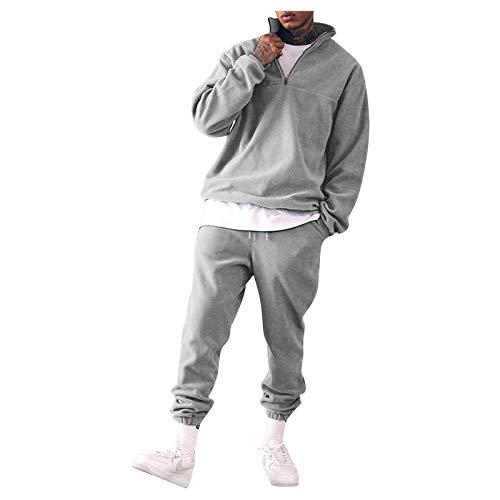 Bumplebee Sweatshirt Herren Ohne Kapuze Stehkragen Pullover Trainingsanzug Baumwolle Sportanzug Jogginganzug Jogginghose Zweiteiliges Set Sport Gym Fitness Jogging Anzug