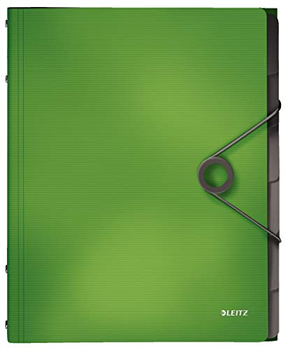 Leitz 45691050 Solid Ordnungsmappe PP A4, 6 Fächer, hellgrün