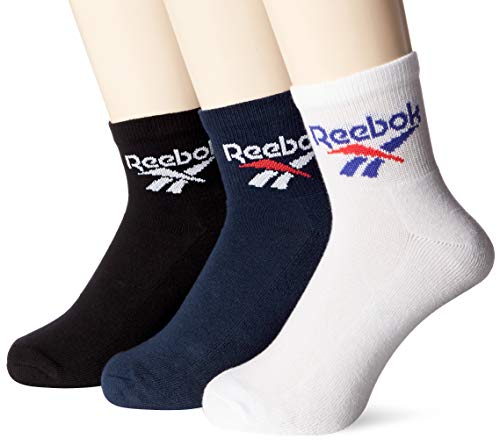 Reebok Cl Lost & Found Socken, Unisex Erwachsene L Schwarz (Schwarz / maruni / Weiß)