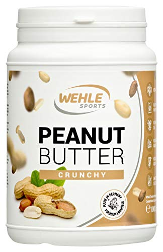 Erdnussbutter Natürliche Peanutbutter Ohne Zusätze. Erdnussmus Ohne Salz, Zucker, Palmfett I Wehle Sports (Crunchy, 1 KG)