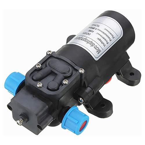 12V 3L / MIN 30W Micro Diafragma Micro Diafragma Bomba de Agua Interruptor automático Bomba de cebado para la Caravana Barco RV Jardín