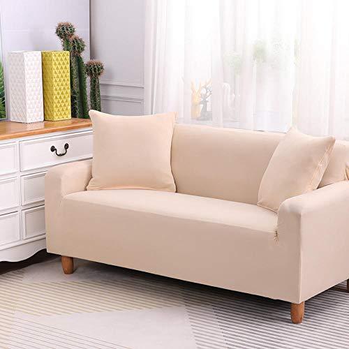 HXTSWGS Non Slip Furniture Protector,Stretch Sofa Cover, Stretch Fabric, Furniture Protection Cover-Beige_145-185cm