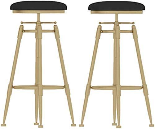 WWW-W-DENG barkruk, draaibaar, PU, rond, hoogte van leer, verstelbare stoel, kruk, metaal, voetenbankje, barkruk