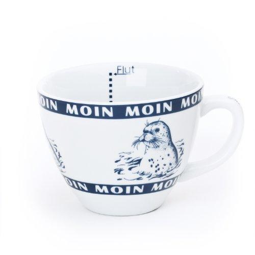 Delta Products Jumbo Becher Seehund/Robbe Moin Moin, Innen Ebbe und Flut, ca 0,5 l