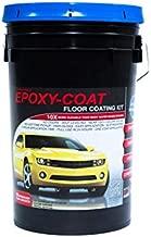 Epoxy Floor Kit - Epoxy-Coat Full Kit Gray- up to 500 sq.ft. at 9.7 mils - for Garage Floors, Basement Floors, Concrete, and More
