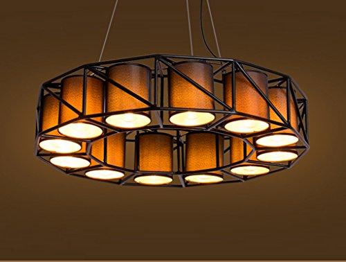 TB-Iluminación interior Araña de la vendimia industrial salón restaurante desván personalidad bar cafe tienda de ropa luces decorativas de ingeniería candelabro