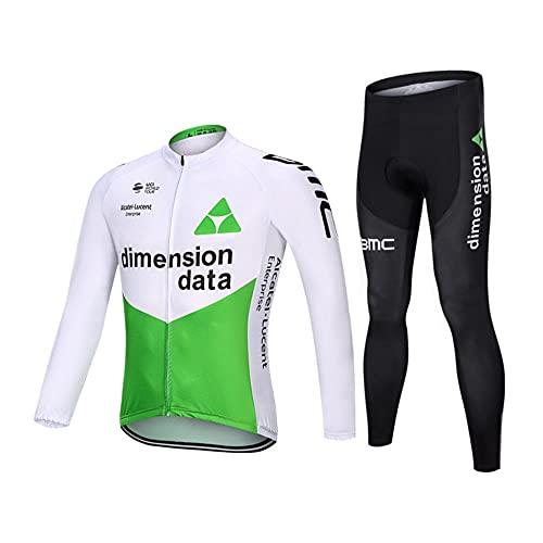 Abbigliamento Ciclismo Set 20 Gel Pantaloni Manica Lunga Completo daCiclismo per Uomo Antivento Asciugatura Rapida per MTB Ciclista Corsa All'aperto