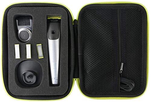 Khanka Hart Tasche Schutzhülle für Philips OneBlade Pro Face+body QP6520/30 QP6510/20 QP6620/30 Bartschneider Trimmer Etui Case.(Gelb Reißverschluss)