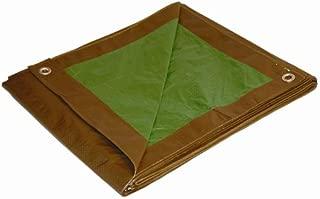 12x24 Multi-Purpose Brown/Green Medium Duty DRY TOP Poly Tarp (12'x24')