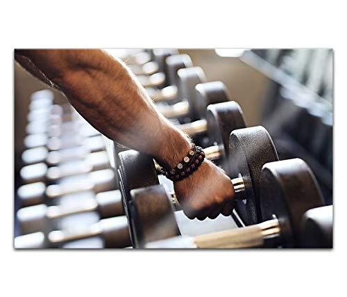 Acrylglasbilder 80x50cm Hantel Muskeln Training Übung Fitness Sport Acryl Bilder Acrylbild Acrylglas Wand Bild 14H1536