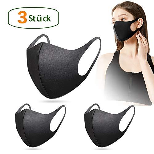3 Stück Fashion Unisex Wiederverwendbare und waschbare schwarz