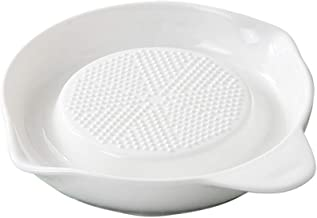 BESTONZON Porcelain Grater Plate for Ginger Garlic Onion and Baby Food Fruits Vegetables