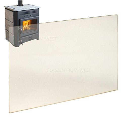 Kaminglas Ofenglas hitzebeständiges Glas bis 800° Ofen Kamin Kaminscheibe 310 x 245 x 4 mm Sondergrößen nur auf Anfrage