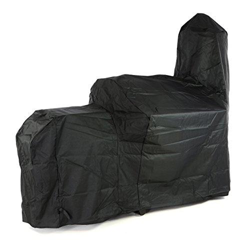 Nexos Schutzhülle für Smoker Abdeckung Wetterschutz Plane Cover 500x300D PVC schwarz pflegeleicht Haube Grillabdeckung 212x172x80 cm passend für GZ35615 Hülle wasserdicht