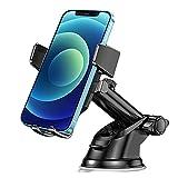 Bnimtm Supporto Cellulare Auto, Supporto Smartphone Auto 360° di Rotazione con Regolabile Clip e Braccio Estensibile e Potente Ventosa, per Cruscotto e Parabrezza