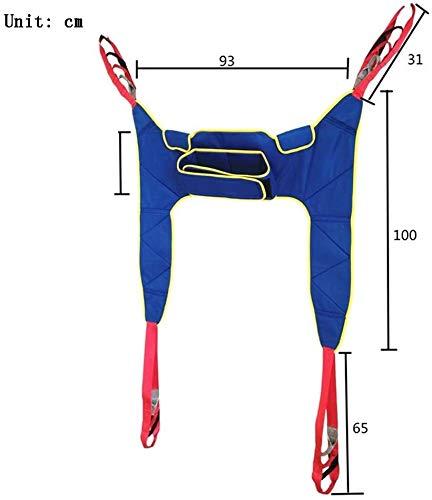 417T28xHv0L - Grúa de paciente portátil de transferencia de honda de la correa, en movimiento suave Assist alzamiento de la marcha del arnés del cinturón ajustado Heights de dispositivos, for la tercera edad, disca