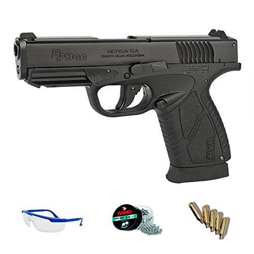 Bersa BP9CC Pack ASG Pistola de Aire comprimido (CO2) y balines de Acero (perdigones BBS) Calibre 4.5mm. Réplica + Accesorios <3,5J