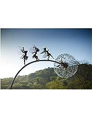 XSDF Feeën en paardebloemen dansen samen - dramatische sprookjesbeelden dansen met paardebloemen, fantasie mythische feeën tuin magische verzameling, beeldje feeën Pixies nimfen decor (groot avontuur)