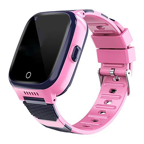 BOERSAND 4G Multifunktionale Kinder Smart Watch Phone, Geeignet für Jungen und Kinder Smart-Uhren Von 3 bis 12 Jahre alt, mit SOS-Kamera Taschenlampe Touch für Kinder Geschenk,Pink-OneSize