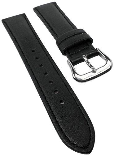 Correa de reloj para reloj Casio Sheen SHE-5020BL de piel negra, 18 mm