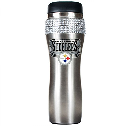Pittsburgh Steelers NFL 2pc Rocks Glass Set - Primary logo