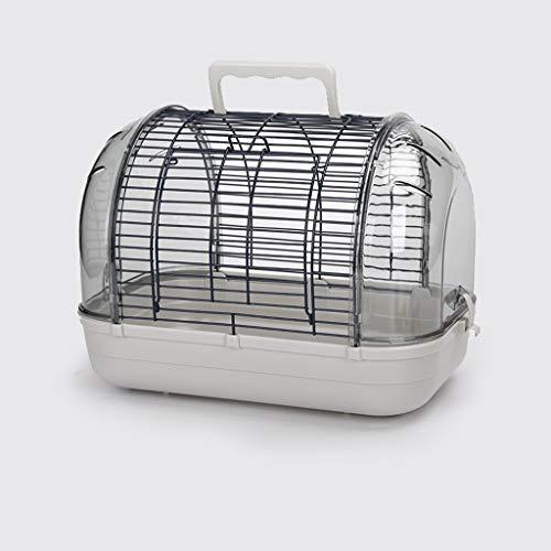 Jaula de loros Pet Box Transporte, portátiles de pequeño tamaño Pájaros Viajes Cage, bolsa del animal doméstico del bolso del viaje del perrito del gato del perro jaula for conejos Jaula de pájaros