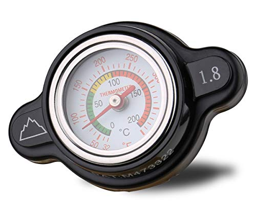 Summit High Pressure Radiator Cap with Temperature Gauge - 1.8 kg (1.8 Bar, 25.6psi), Fits KTM 250 SX 2017-2019 and Husqvarna FC 250/350/450 2016-2017