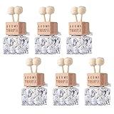 Minkissy 6 Uds. Botella de Perfume de Ventilación de Aire Botella de Fragancia Vacía Botella de Aceite Esencial de Coche