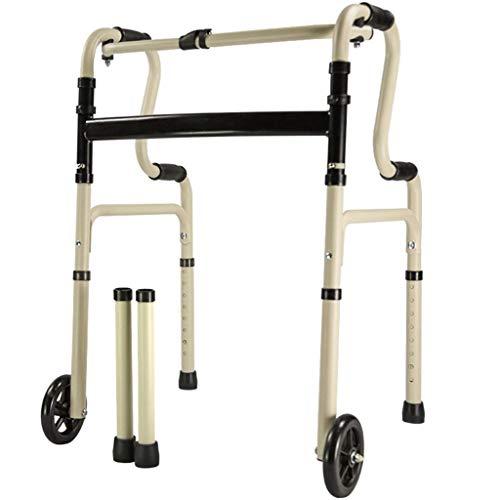 HTL Gehhilfe Medical Instruments Multi-Funktions-Gehhilfe Für Senioren Four-Legged Cane Walker Zusammenklappbarer Walker Mit Rad Aus Aluminium Halterung Durable