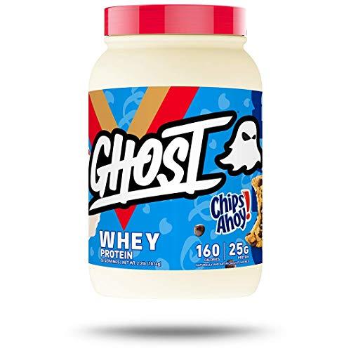 Ghost 100% Whey Protein Powder 2lb Tub (Chips Ahoy!, 2lb)