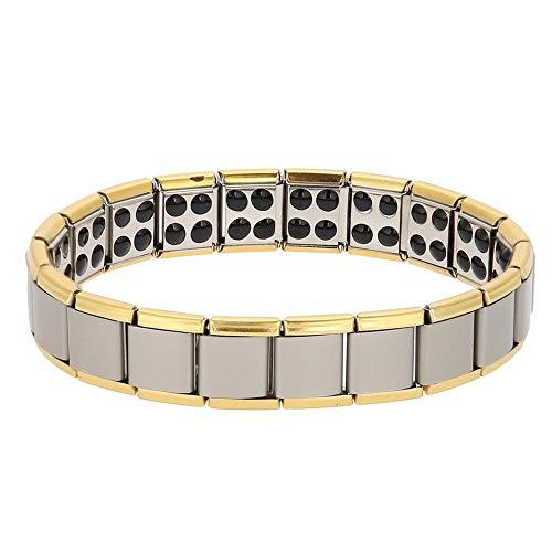 Betued Therapie Armband, Titan Stahl Armband, Gesundheits Armband Magnetarmband magnetisch Germanium Titan Armband aus Stahl Magnet Gesundheit Heilung Schmuck