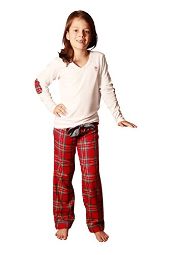 L'Orangerie - Pijama para niña, manga larga, camiseta de