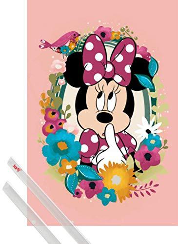 1art1 Minni Poster Stampa (91x61 cm) Disney Minnie E Coppia di Barre Porta Poster Trasparente